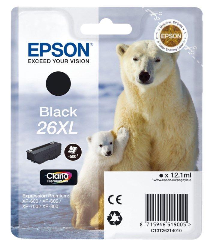Epson T2621 XL Bläckpatron Svart
