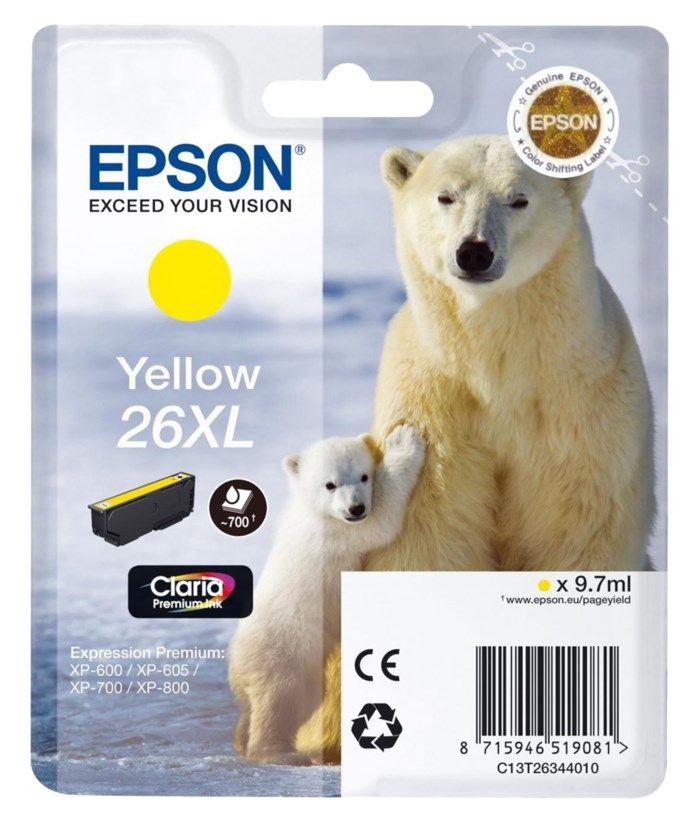 Epson T2634 XL Bläckpatron Gul