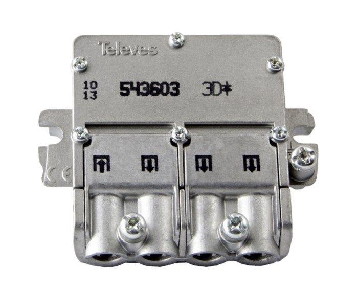 Televes Easy-F mini F-splitter 3-vägs