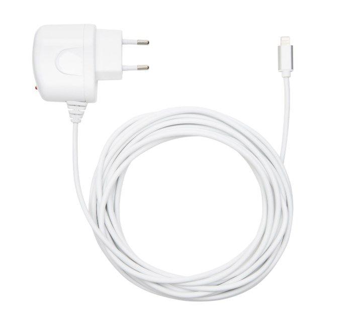 Linocell iPad och iPhone laddare Lightning 2,4 A Vit