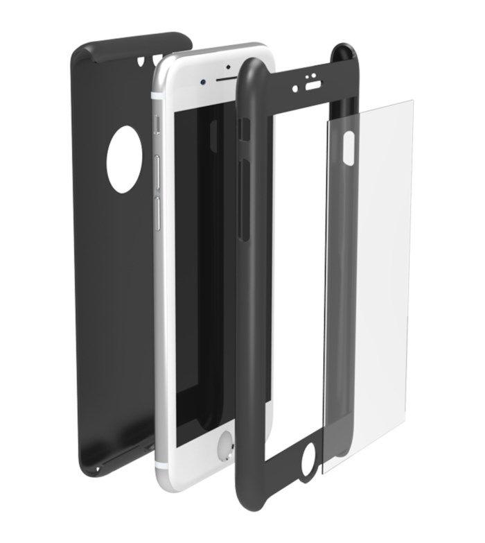 Krusell Arvika 360 Mobilskal och skärmskydd för iPhone 7, 8 och SE Svart