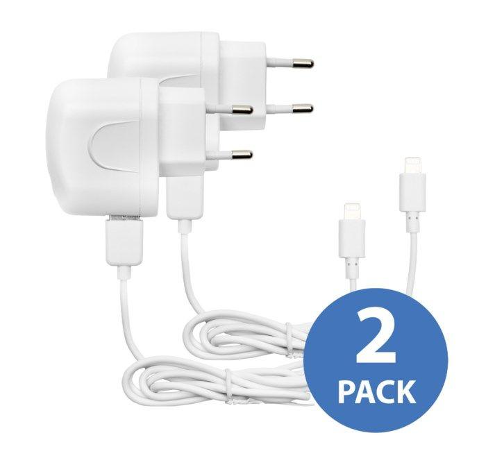 Linocell 2 pack iPad och iPhone laddare med Lightning kabel