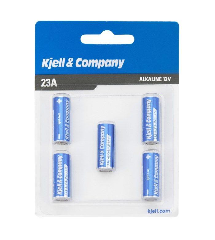 Kjell & Company 23A-batteri 5-pack
