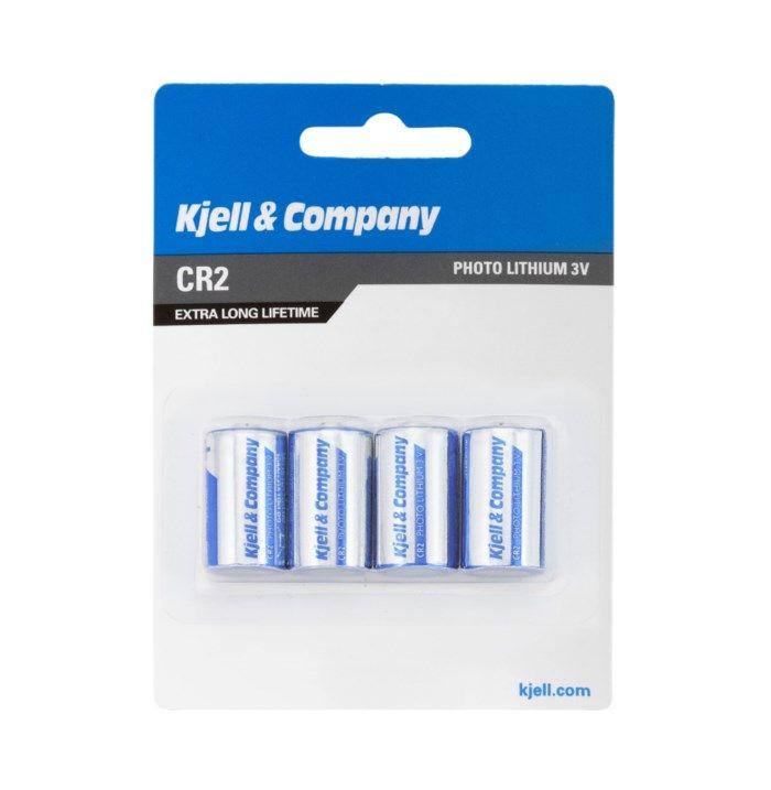 Kjell & Company CR2 Litiumbatteri 4-pack