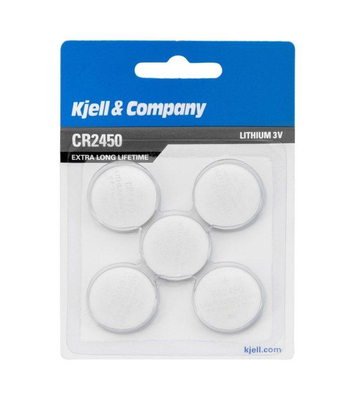 Kjell & Company Litiumbatteri CR2450 5-pack