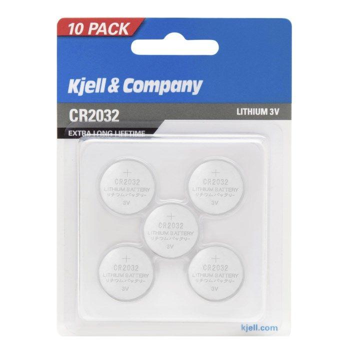 Kjell & Company Litiumbatteri CR2032 10-pack