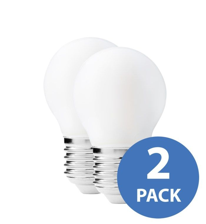 Ledsavers LED-lampa klassisk E27 400 lm 2-pack