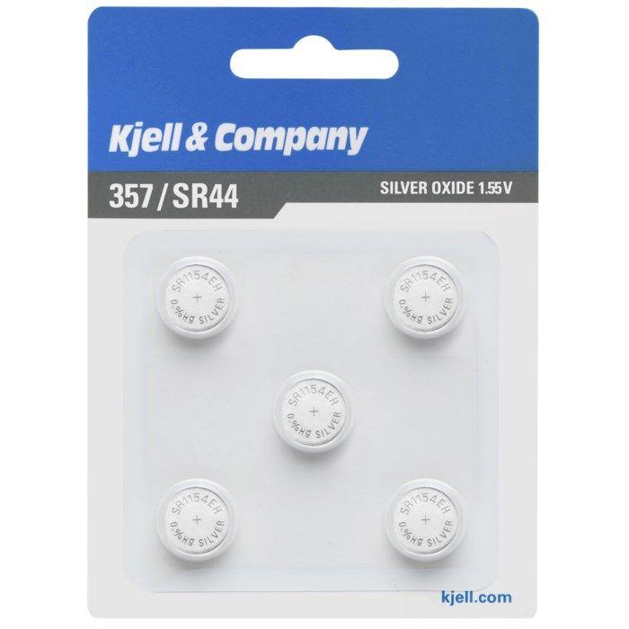 Kjell & Company Knappcellsbatteri SR44 (357) 5-pack