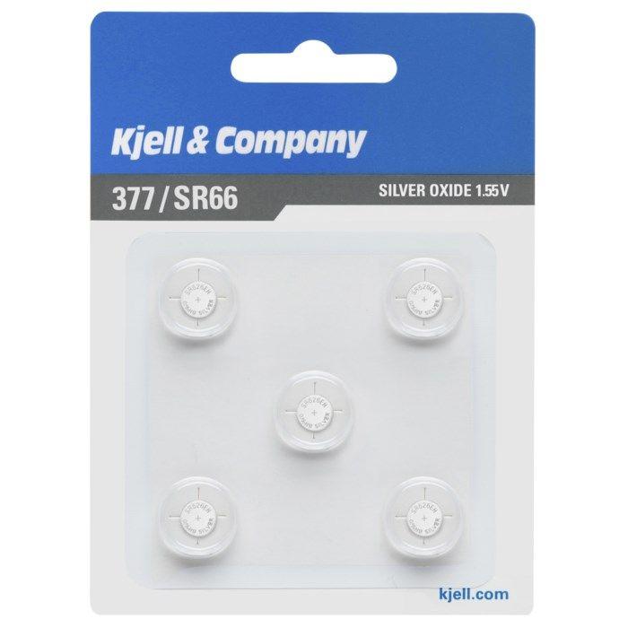 Kjell & Company Knappcellsbatteri SR626 (377) 5-pack