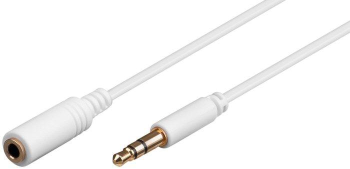 Förlängningskabel med 3,5 mm-kontakt 0,5 m