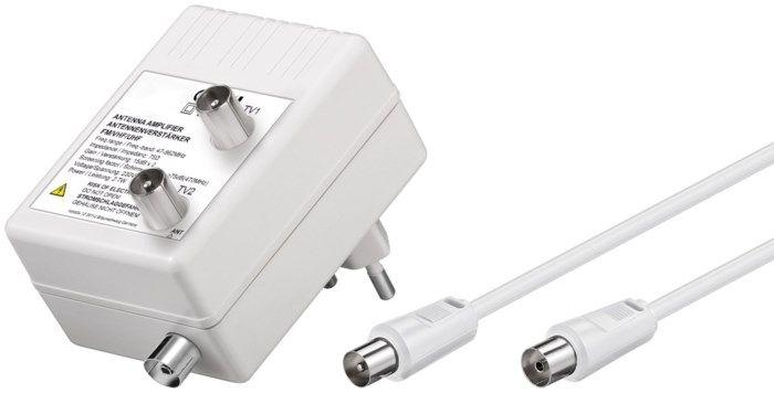 Antennförstärkare 30 dB 2 utgångar