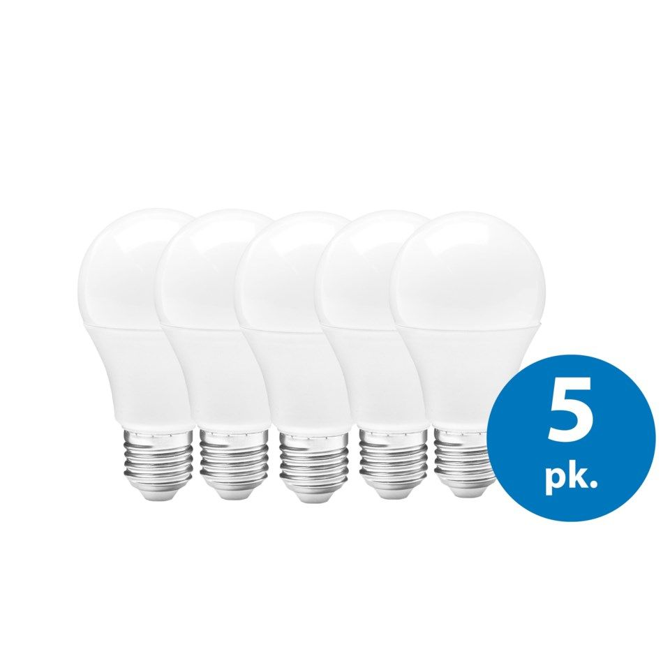Ledsavers LED-pære E27 470 lm, 5-pk.