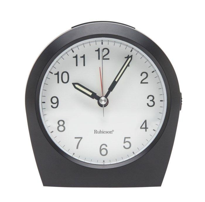 Rubicson Analog radiokontrollerad väckarklocka Svart
