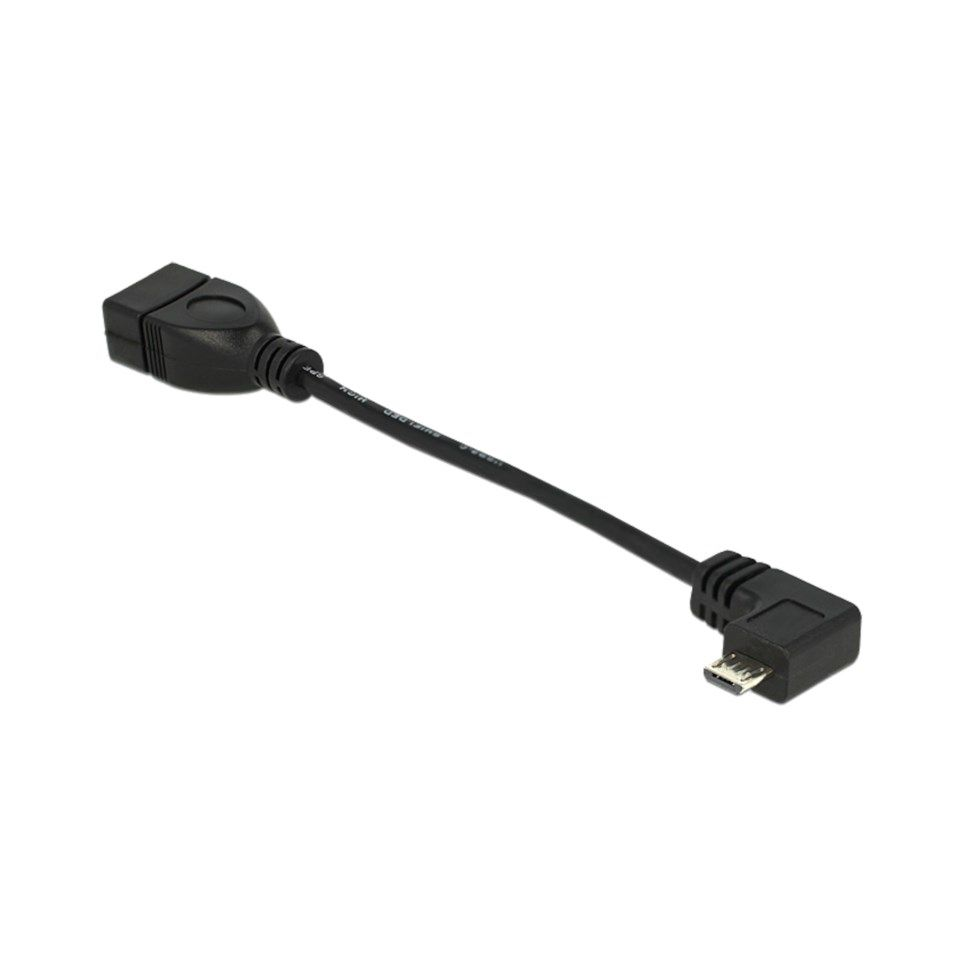 Vinklad OTG-adapter med kabel 0,1 m