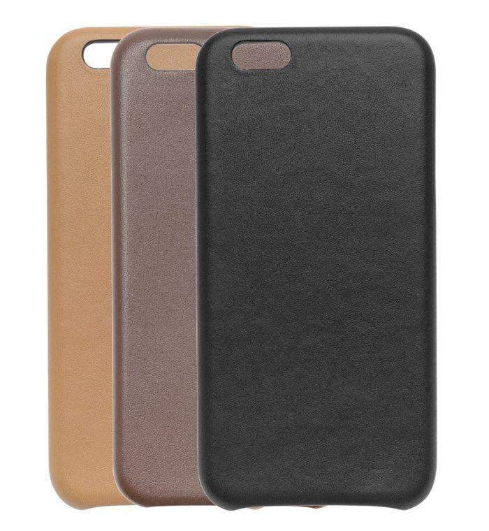 Linocell Leather case Mobilskal för iPhone 6 och 6s Svart