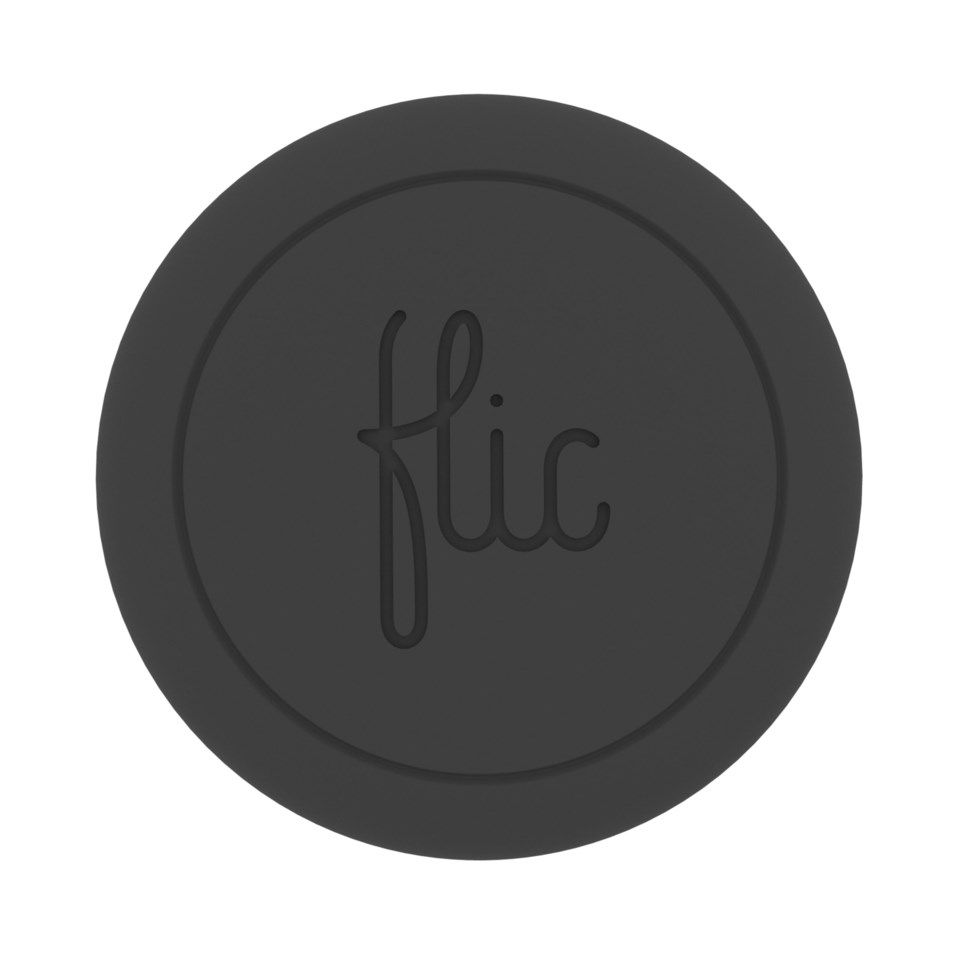 Flic Bluetooth-knapp for mobil Svart