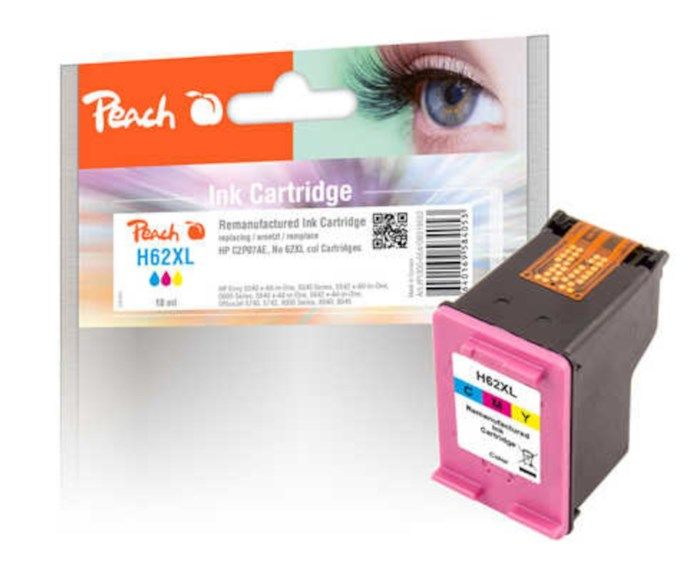 Peach HP 62XL Bläckpatron Färg