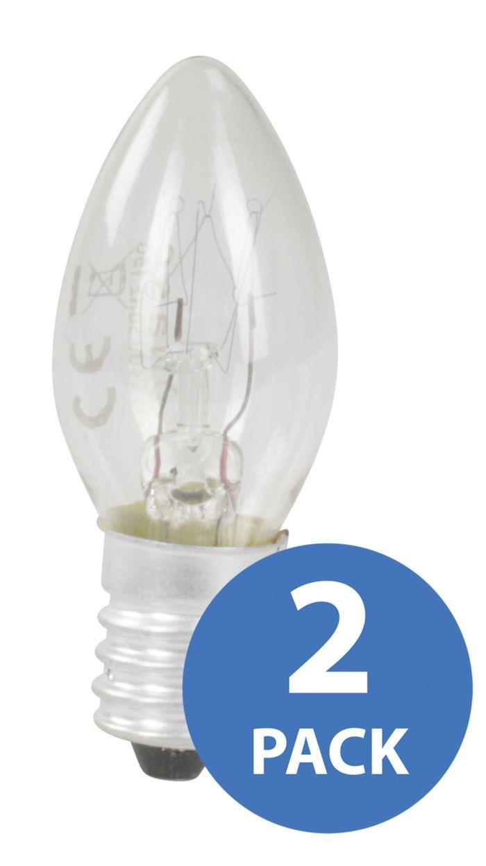 Signallampa E14 7 W 2-pack