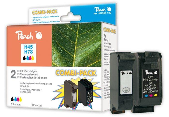 Peach HP 45 och HP 78 Bläckpatron 2-pack