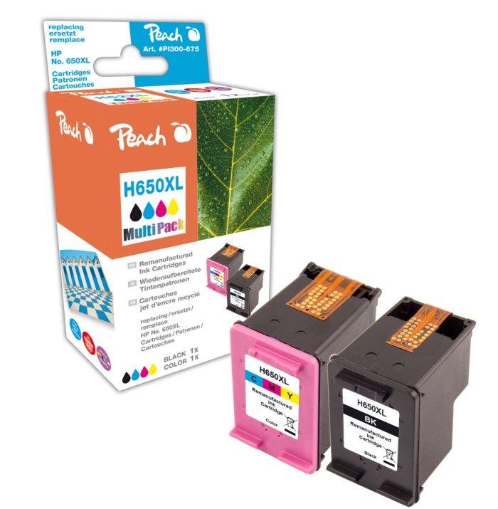 Peach HP 650 Bläckpatron 2-pack