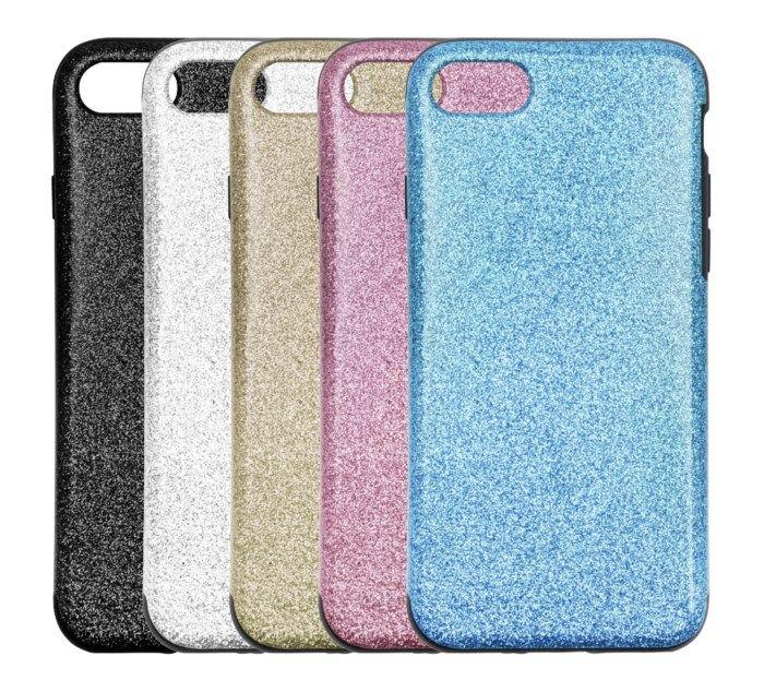 Linocell Glitter Case Mobilskal för iPhone 7 8 och SE Silver
