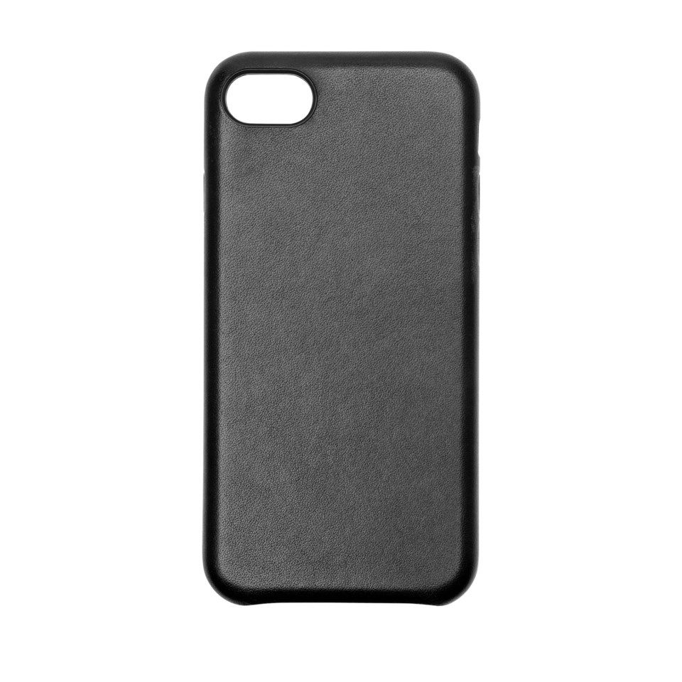 Linocell Leather case Mobildeksel for iPhone 7, 8 og SE Svart