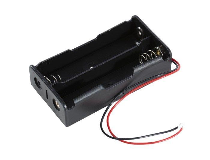 Luxorparts Batterihållare för 18650 litiumbatteri 2x 18650