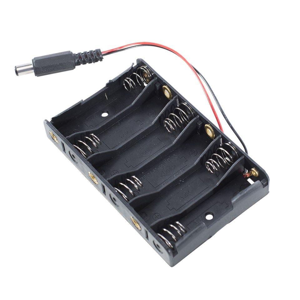 Luxorparts Batteriholder 6x AA for Arduino