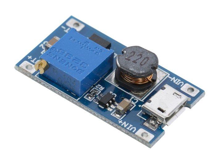 Luxorparts Ställbar step-up-modul USB