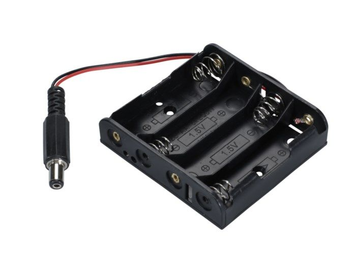 Luxorparts Batterihållare 4x AA för Arduino