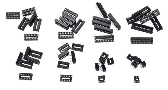 Luxorparts Sortiment med IC-hållare 48-pack