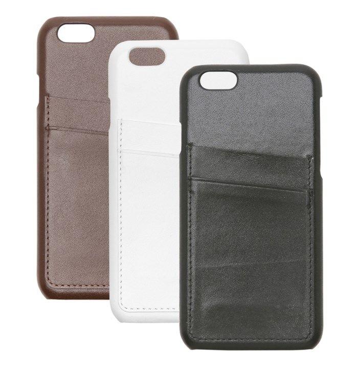 Linocell Leather wallet case Plånboksskal för iPhone 6 och 6s Vit