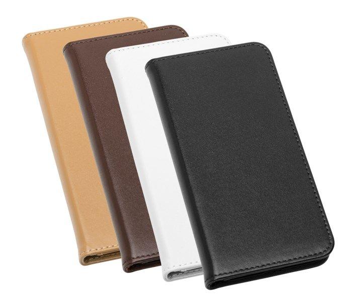 Linocell Leather wallet Mobilplånbok för iPhone 7 8 och SE Svart