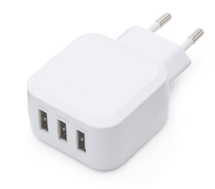 Linocell 4,8 A USB-laddare med tre portar