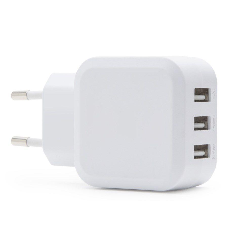 Linocell 4,8 A USB laddare med tre portar