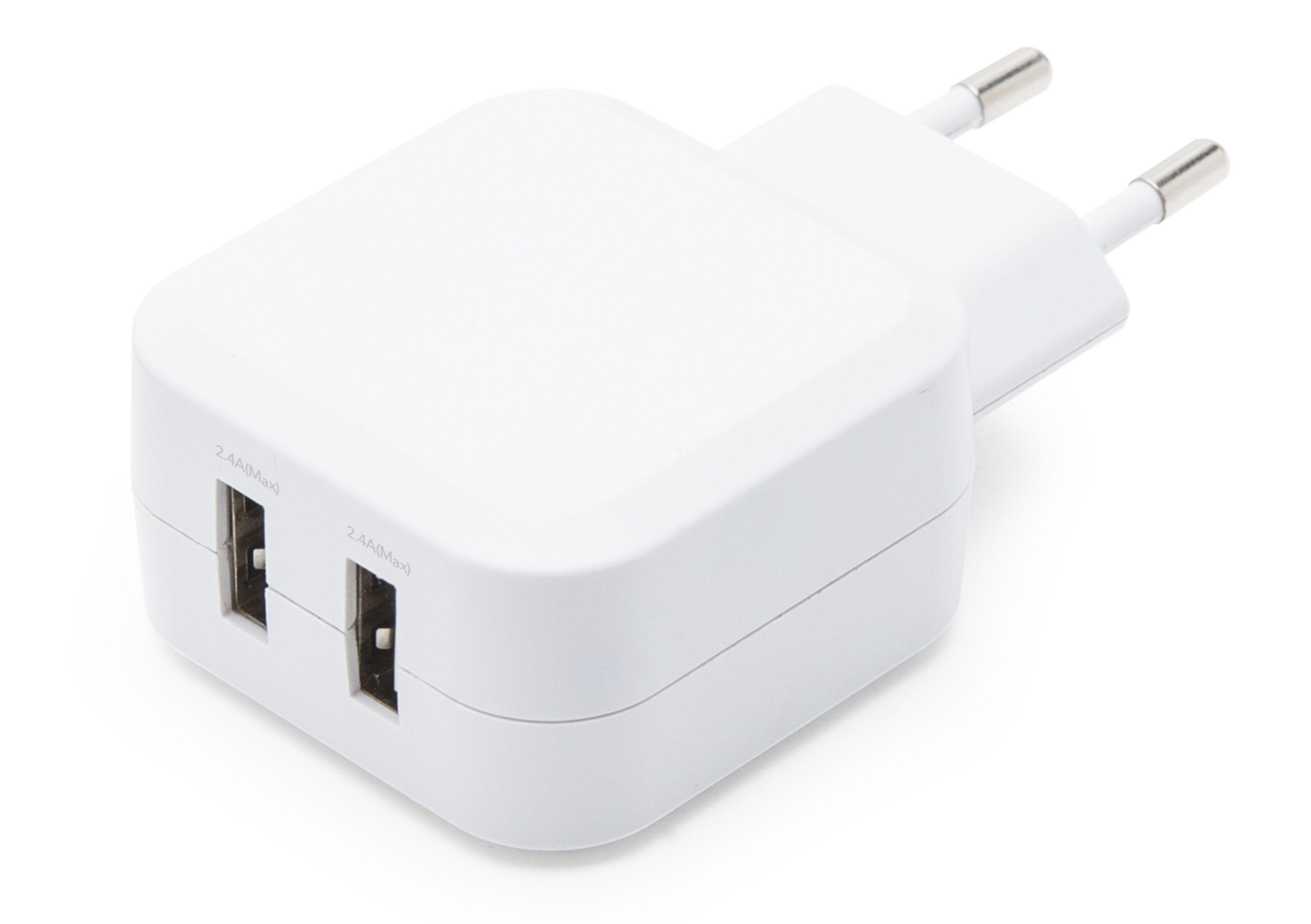 Linocell 4,8 A USB laddare med två portar