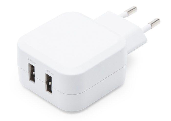 Linocell iPad och iPhone laddare Lightning 2,4 A Svart