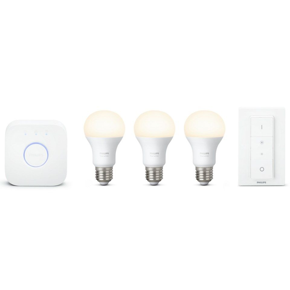 Philips Hue White Startpaket Smarta LED-lampor 3-pack