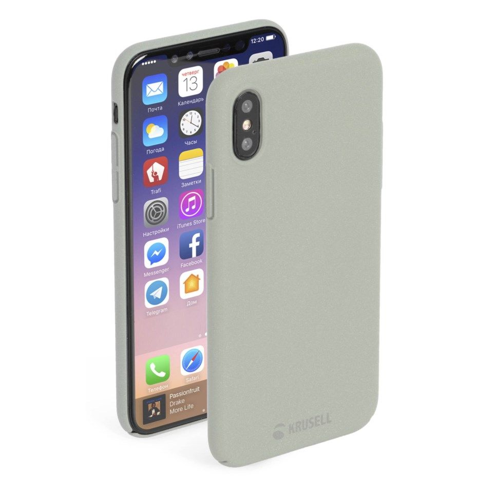 Krusell Sandby Mobildeksel for iPhone X og Xs Grå