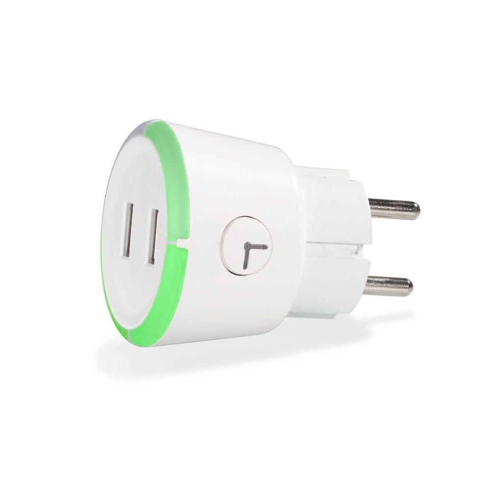 Capidi USB säkerhetstimer med två portar 3,4 A Vit