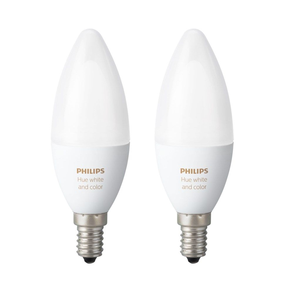 Philips Hue Smart LED-lampa RGB E14 470 lm 2-pack