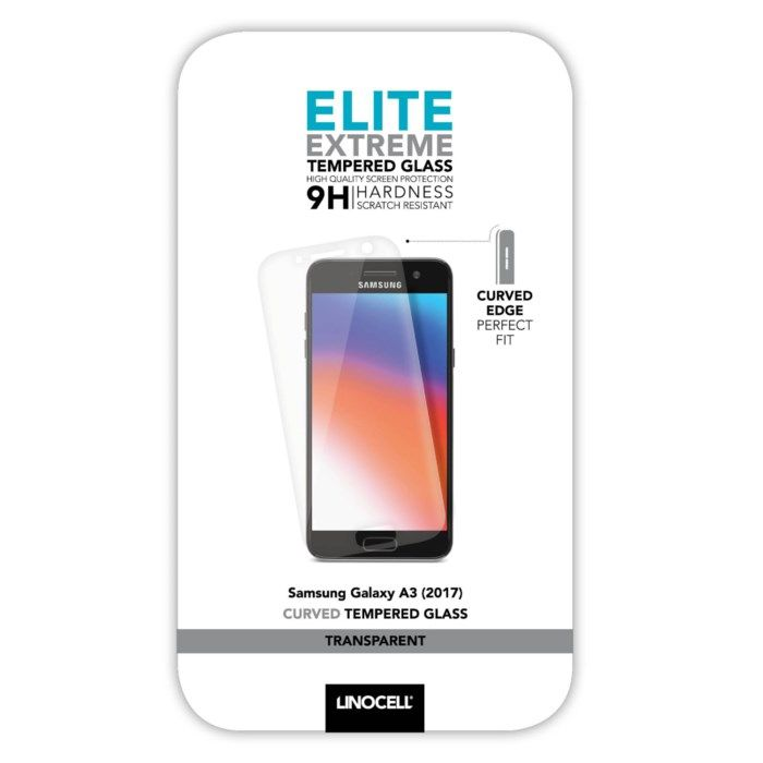 Linocell Elite Extreme Curved Skärmskydd för Galaxy A3 2017 Transparent