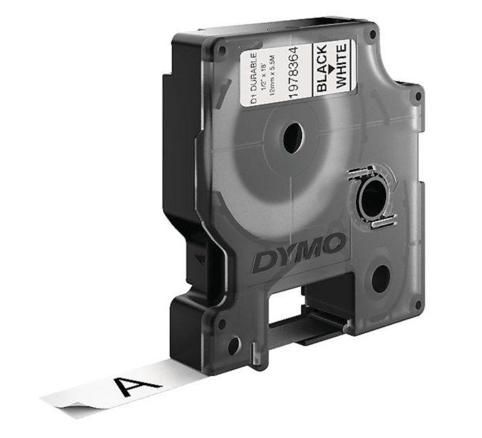 Dymo Durable D1-märktejp 12 mm