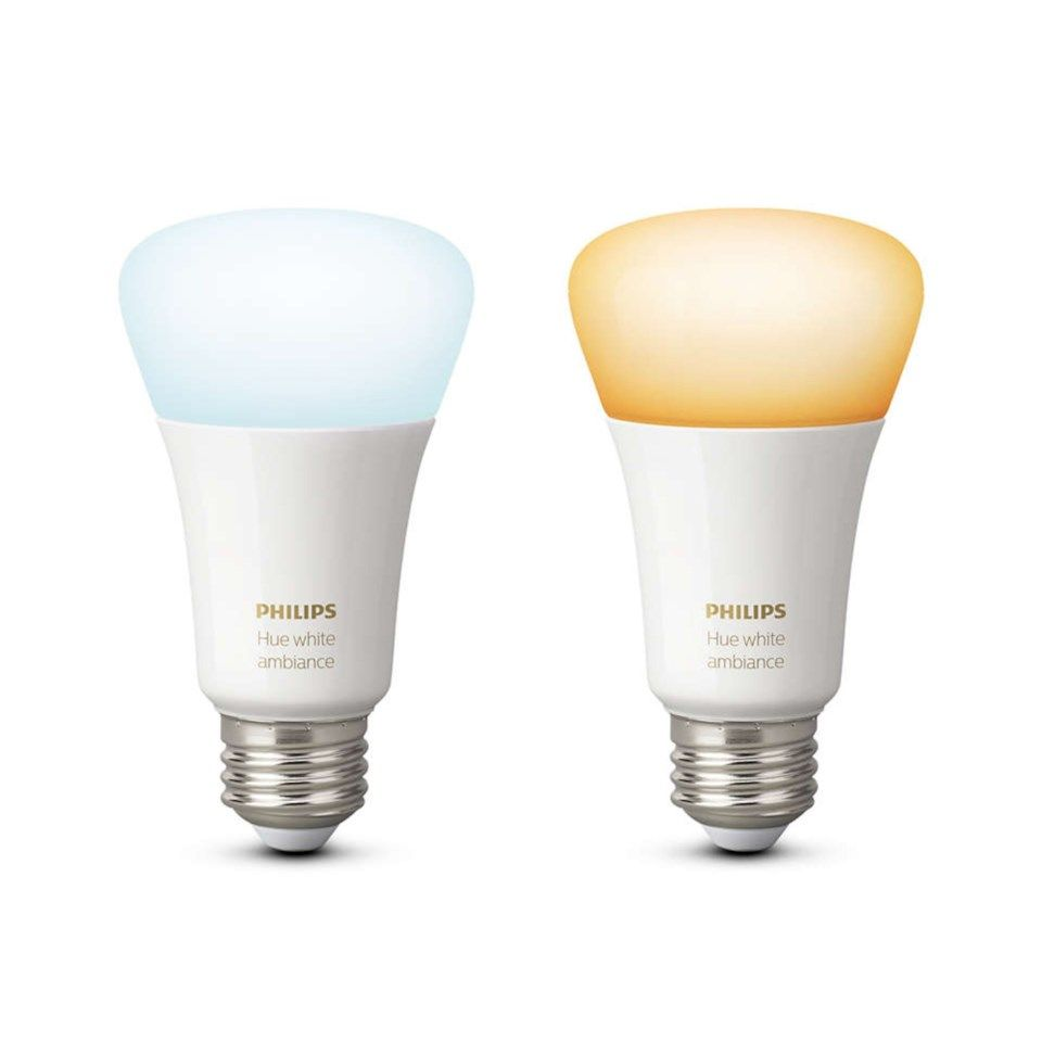 Philips Hue Ambiance Smart LED-lampa E27 800 lm 2-pack
