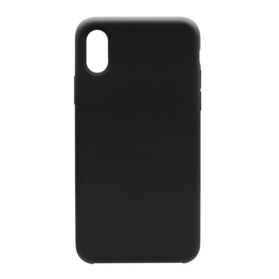 Linocell Elite Rubber Mobildeksel for iPhone X og Xs Svart