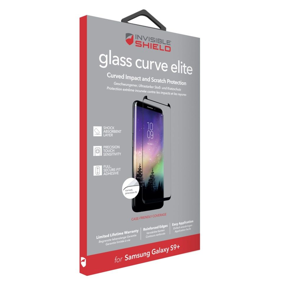 Invisible Shield Glass Curve Elite Skärmskydd för Galaxy S9 Plus