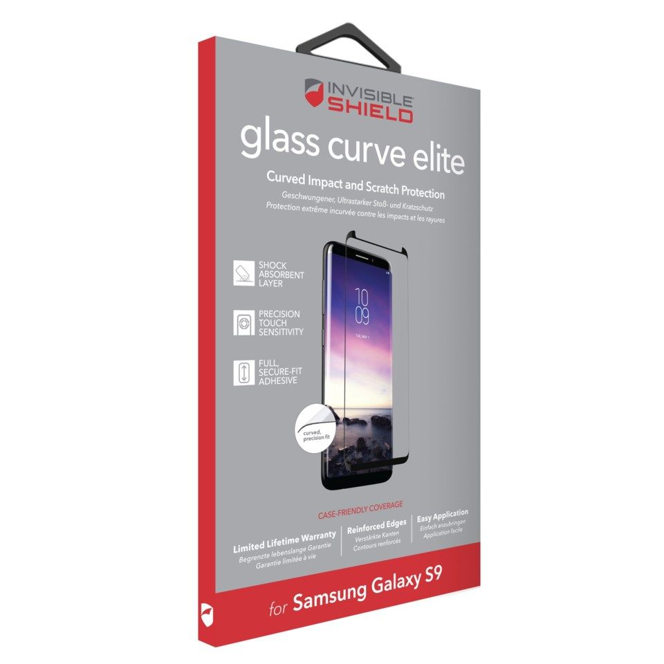 Invisible Shield Glass Curve Elite Skjermbeskytter for Galaxy S9