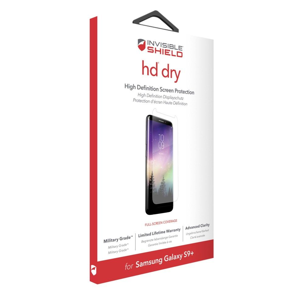 Invisible Shield HD Dry Skjermbeskytter for Galaxy S9 Plus