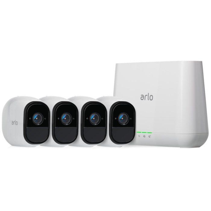 Arlo Pro 2 Övervakningssystem med fyra Full HD-kameror