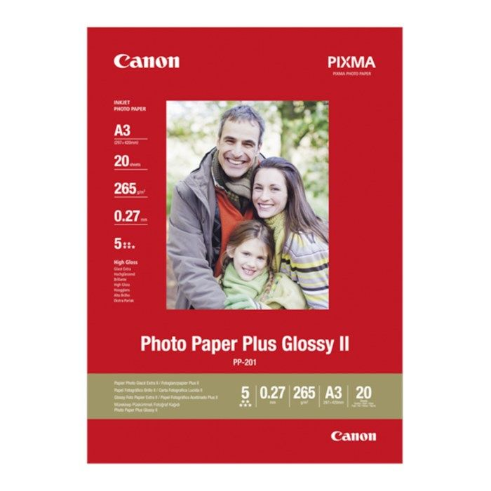 Canon Plus Glossy II Fotopapper A3 20-pack